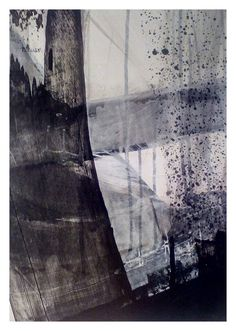 November Storm series 39cm x 29cm  2015 Paint ,charcoal on paper. By Matthew Rees