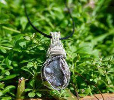 Druzy Geode Necklace, Smoky Quartz Geode Necklace, Wire Wrapped Necklace, Raw Stone Jewelry, Healing Crystals & Stones, Raw Stone Necklace by CrystalDestinies on Etsy