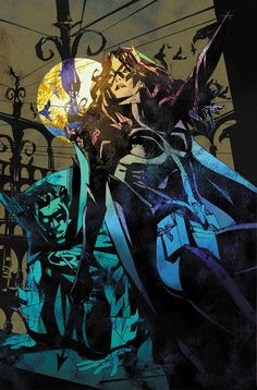 Earth 2 Huntress and Robin by Bill Sienkiewicz