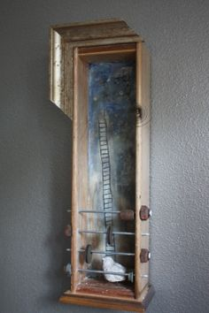 Final Ascension www.kathievezzani.com, plaster, encaustic, assemblage,