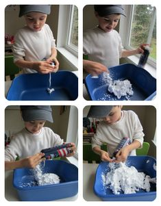 Sensory activity--shaving cream and corn starch