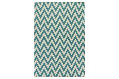 Vintage Casual Area Rugs Flatweave - Teal Medium Rug by Signature Design by Ashley