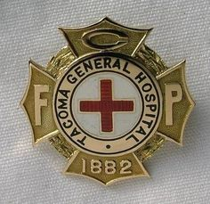 Tacoma General Hospital School of Nursing Graduation Pin 1935