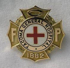 Tacoma General Hospital School of Nursing Graduation Pin 1935