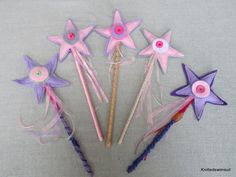 Pretty in pink felt wand by knittedswimsuit on Etsy, £8.00