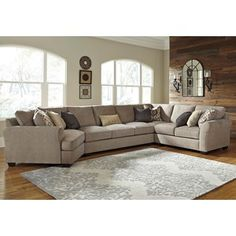 Ashley/Benchcraft Pantomine 4-Piece Sectional w/ Cuddler u0026 Arrnless Sofa  sc 1 st  Pinterest : rowe brentwood sectional - Sectionals, Sofas & Couches