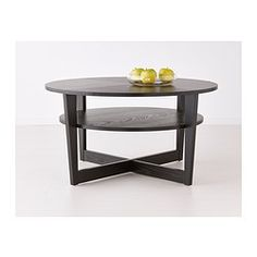 VEJMON Coffee Table Black Brown IKEA Tall Enough For A Casual