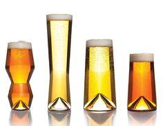 Sempli Monti-Taste - Set of Four Modern Beer Tasting Glasses - The Green Head