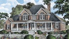 Enticing Front Porch HWBDO75909 Country from BuilderHousePlans.com
