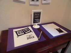 Graduation - Party Planning - Use scrapbook pages for sign in