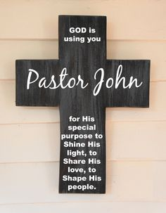 Personalized Pine Wood Cross with Quote Poem by Frameyourstory