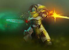 Legion Praetor, power sword in darkness.
