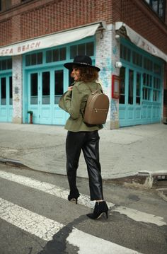 1e25f29f Structured and sassy, the West 57th Backpack is the choice luxury handbag  for the Bendel