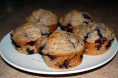 Montignac Oat Bran Blueberry Muffins