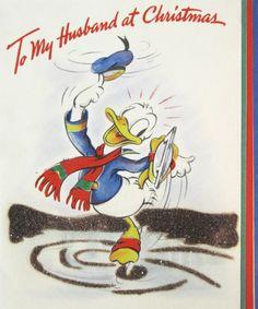 Vintage Disney Christmas Card - Donald Duck