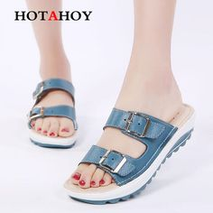 Summer Women Flat Sandals Shoes Leisure Slippers Slip-on Round Toe Comfortable Sandals Casual Flip Flops Female Shoes