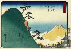 Hiroshige - Thirty-six Views of Mount Fuji 1852 Series 33 Back View of Fuji from Dream Mountain in Kai Province	山梨県甲府市 Kōfu-shi, Yamanashi-ken