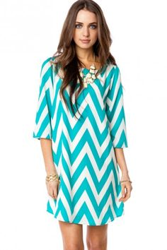 Bluw Chevron Shift Dress. Way cute with black tights and boots