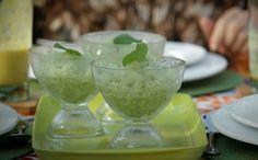 Receita raspadinha de melo e hortel Bela Gil (Foto: Divulgao/GNT)