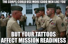 Marine Corps Tattoo Policy #usmc #marinecorps