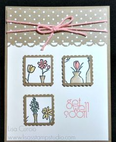 Stampin' Up!, Vivid Vases, Postage stamp punch, Occasions Catalog 2014, Sale-A-Bration 2014