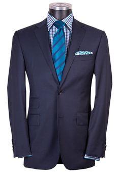 Rhodes & Beckett - Super 120's Navy Modern Twill Slim Silhouette Suit