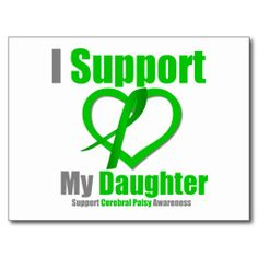 Cerebral palsey awareness | Cerebral Palsy I Support My Daughter Post Card
