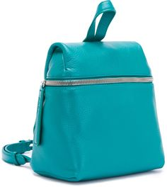Jade Pebble Leather Small Backpack