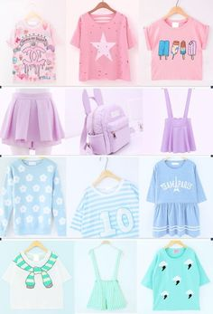 Pastel goth, lolita and kawaii outfits cute band and pastel Pastel Goth Outfits, Pastel Goth Fashion, Pastel Outfit, Kawaii Fashion, Lolita Fashion, Cute Fashion, Pastel Goth Clothes, Gothic Fashion, Fashion Women