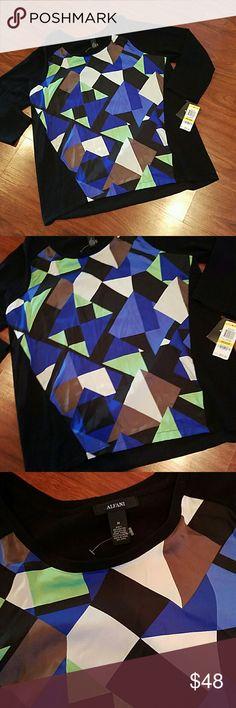 NWT Alfani geometric blouse size Medium Gorgeous Alfani Tops Blouses