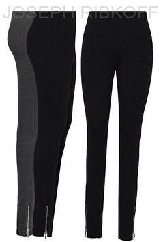 Joseph Ribkoff pants | Black | Skinny | Zip ankle detail.