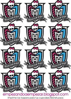 Monster High Cupcakes | Todo para tu fiesta Monster High - Imprimibles descargables gratis I ...