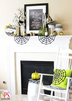 halloween mantels | Top 50 Halloween Mantels Of 2013