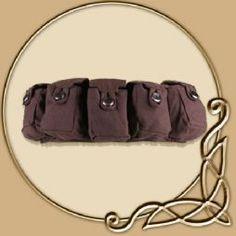 LARP Accessories -5 Bag Utility Belt ' Borchard'