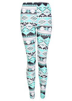 Multicolour Aztec Print Leggings - Womens Clothing Sale, Womens Fashion, Cheap Clothes Online | Miss Rebel