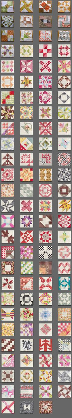 On making the Farmer's Wife Quilt Sampler - display of ?all? most? blocks in her quilt.t
