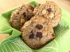 Cookies bio aux amandes, chocolat, raisins secs