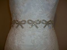 Swarovski Crystal Bridal Belt Sash Kirsten by BridalCoutureGirls, $100.00