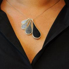 Bling and Buy: Sterling silver and merino wool felt necklace from Close Your Eyes Hold Out Your Hand