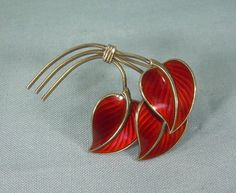925 Silver, Sterling Silver, Enamel Jewelry, Vintage Brooches, Brooch Pin, Cuff Bracelets, Leaves, Norway, Scandinavian