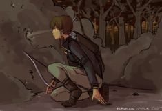 Now it actually is Katniss Korra ;D Got really lazy with the background but oh well 8(
