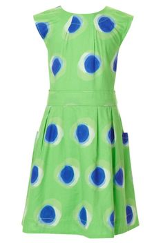 Pure Cotton Sleeveless Spotted Dress - Marks & Spencer