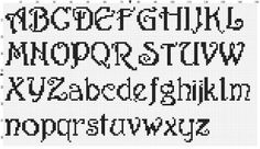 Printable Cross Stitch Letters | Calligraphic Font