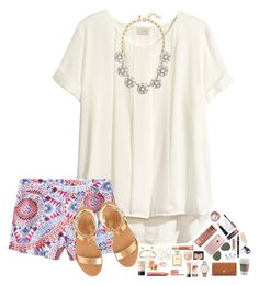 """""""Good Morning!! ☁️"""" by hopemarlee ❤ liked on Polyvore featuring H&M, Old Navy, J.Crew, Kendra Scott, NARS Cosmetics, Bobbi Brown Cosmetics, tarte, Too Faced Cosmetics, Chanel and Wander Beauty"""