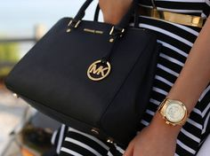 Love this classy and chic Michael Kors handbag and watch!!....❤️