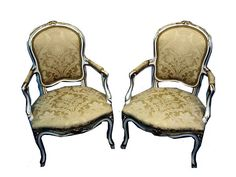 S & S Timms Antiques   Stand B22   Antique 18th Century French Painted Pair of Salon Chairs (c.1780, France)   LAPADA Art & Antiques Fair 2014, Berkeley Square