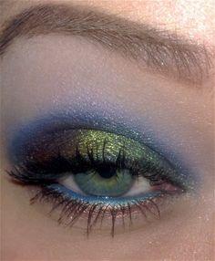 peacock eyeshadow - for Bri's wedding