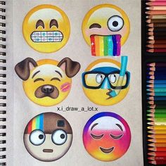 Creative and funny emojis! By @xi_draw_a_lot.x _ ▪Follow our fellow page @art_conquest _ Tag someone who would ❤ this!