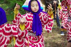 01 Akita Hachirogata town Child Gannin Dance 2015 2015年5月5日 八郎潟町 一日市神社 子供願人踊り