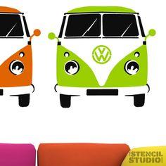 Volkswagen room stencils